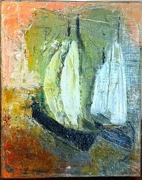 Boats from Opalsania by Pius Kendakur