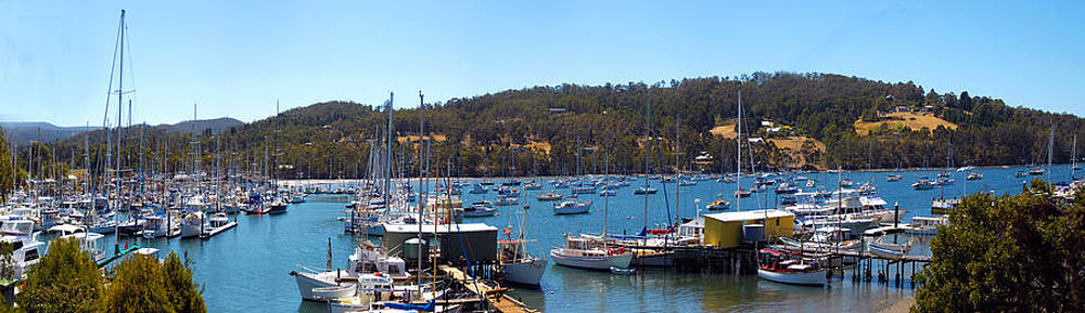 Boats In The Bay by Glen Johnson
