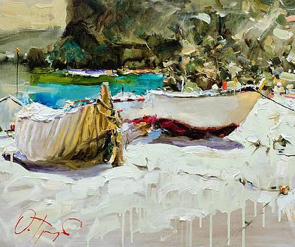 Boats of Catalonia by Oleg Trofimoff