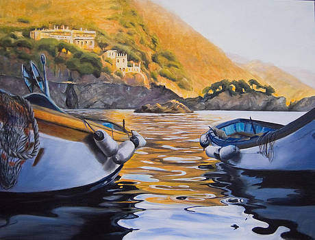 Boats of Cinque Terre by Conny Riley