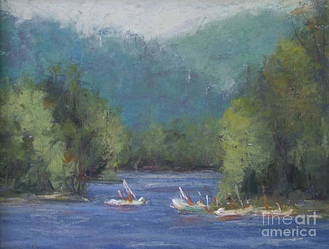 Boats On Lake by Joyce A Guariglia