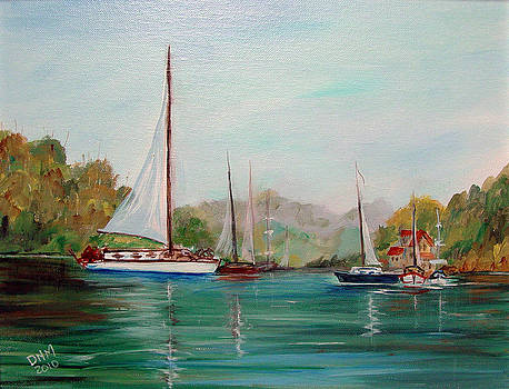Boats - on the Lake by Dorothy Maier