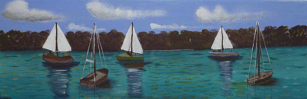 Kate Farrant - Boats on the Water
