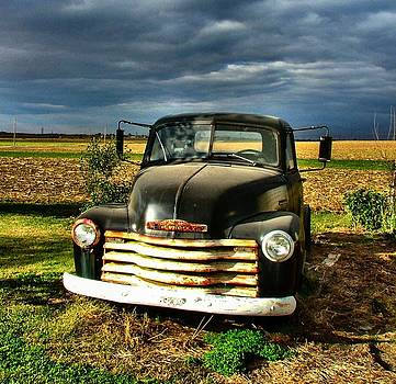 Bob's Old Chevy Truck by Julie Dant