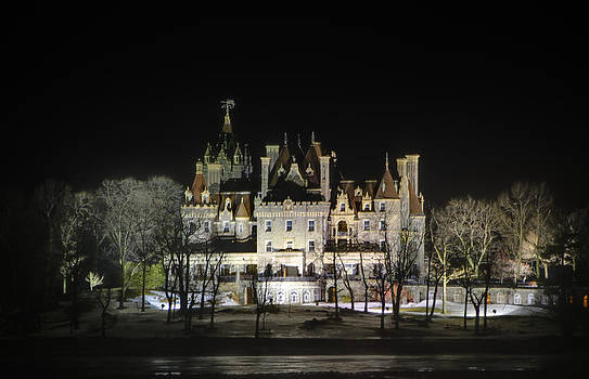 Boldt Castle At Night by David Simons