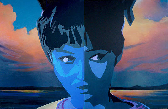 Blue Girl Number One by Geoff Greene