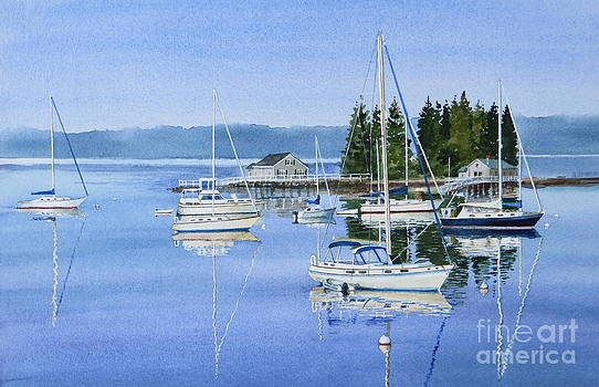 Boothbay Harbor Reflections by Karol Wyckoff