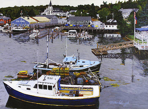 Boothbay Lobster Wharf by Thomas Michael Meddaugh