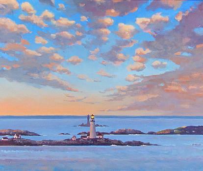 Boston Light by Dianne Panarelli Miller