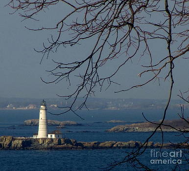 Boston Lighthouse by Maria Scarfone