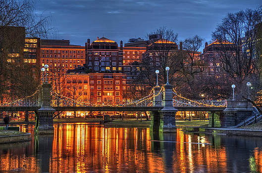 Boston Public Garden Lagoon by Joann Vitali