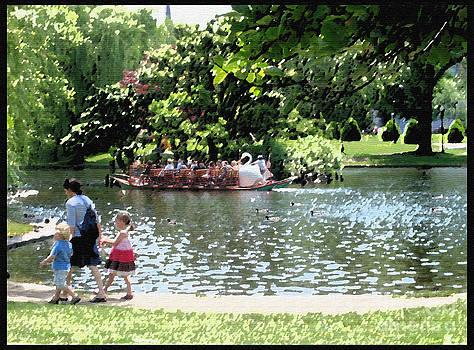 Boston Public Gardens Stroll by Jack Gannon