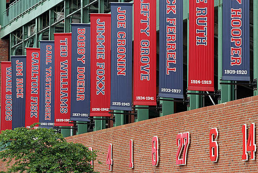 Juergen Roth - Boston Red Sox Retired Numbers Along Fenway Park