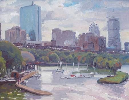 Boston Skyline by Dianne Panarelli Miller