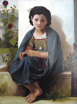 Bouguereau's Knitting Girl by Zelma Hensel