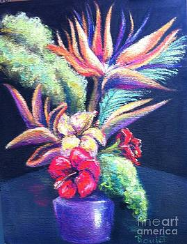 Bouquet with bird of Paradise by Beverly Boulet
