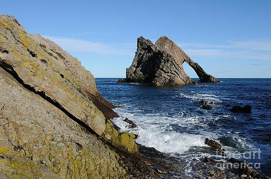 Bow Fiddle Rock in Scotland by John Kelly