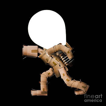 Simon Bratt Photography LRPS - Box man carrying light bulb