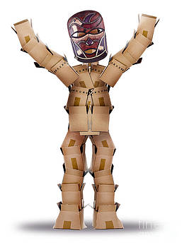 Simon Bratt Photography LRPS - Box man hiding behind a tribal mask
