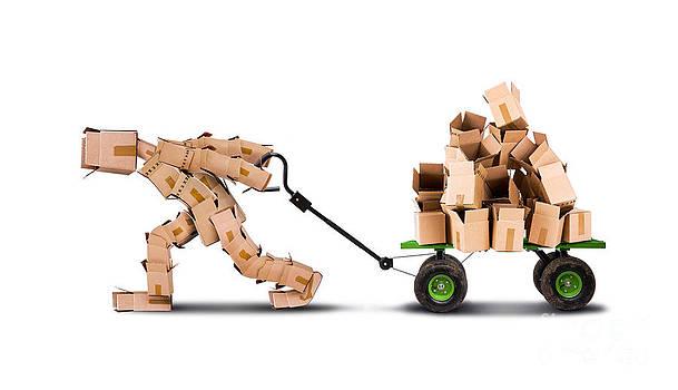 Simon Bratt Photography LRPS - box man moving boxes on trolley