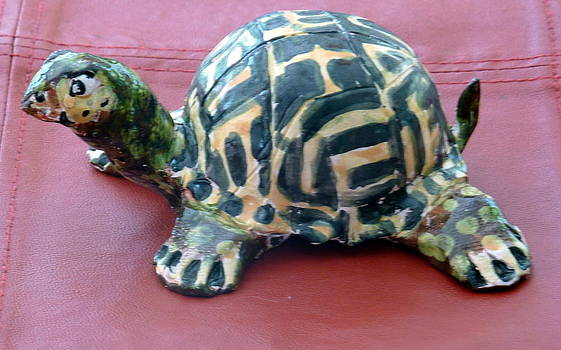 Box Turtle Sculptue by Debbie Limoli