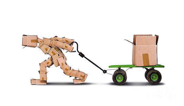 Simon Bratt Photography LRPS - Boxman pulling box on trolley