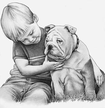 Boy and Dog by Renee Peterson