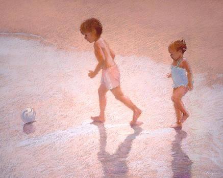 J REIFSNYDER - Boy and Girl w/Ball