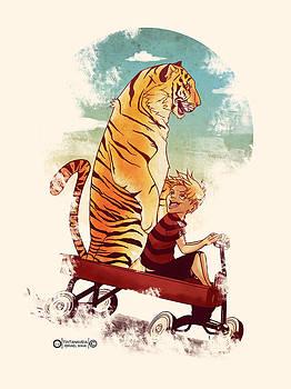 Boy And Tiger by Israel Maia de Barros Vitor Junior