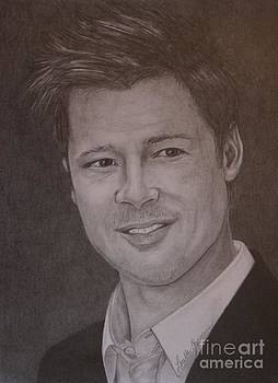 Brad Pitt by Lorelle Gromus