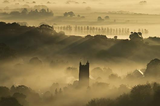 Bradninch in the mist by Pete Hemington