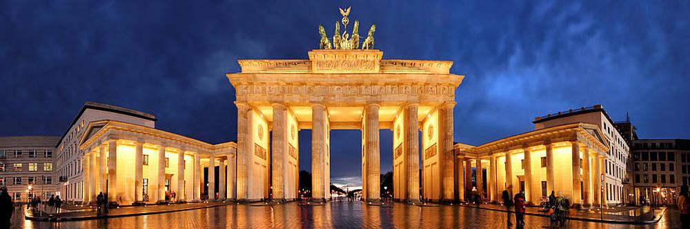 Brandenburg Gate Berlin Panorama by Marc Huebner