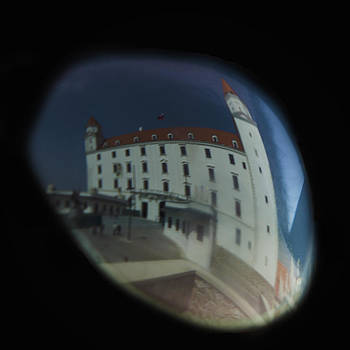 Bratislava Castle reflected in the glasses by Giovanni Chianese