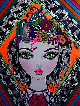 Breanna Green Eyes by Maria  Ruiz