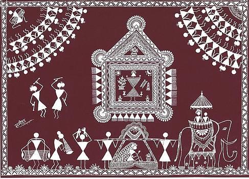 Bride and Groom by Samiksha Jain