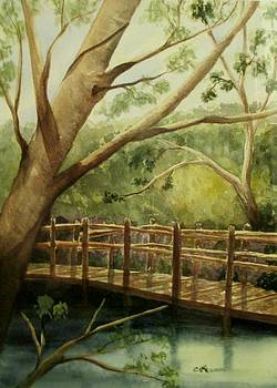 Bridge in the Woods by Constance Larimer