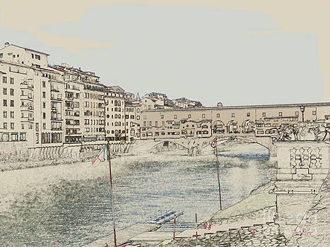 Bridge On The River Arno by Terri Johnson