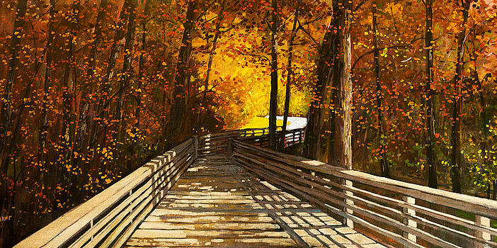 Bridge Through Tranquility by Patty Baker