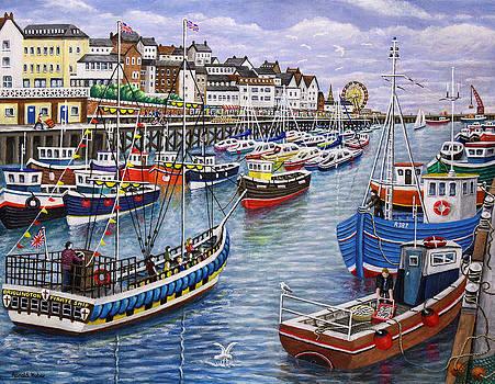 Bridlington Harbour by Ronald Haber
