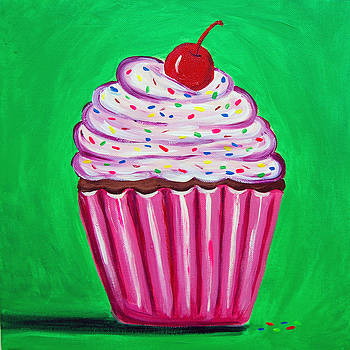 Bright cupcake by Tracey Bautista