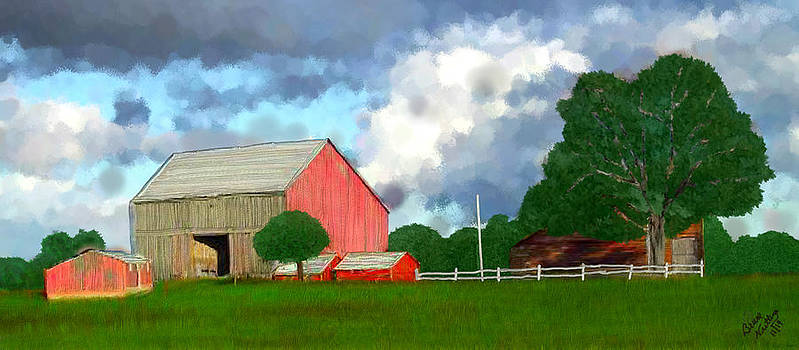 Bright Day on the Farm by Bruce Nutting