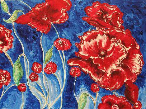 Bright Poppies by Carrie Godwin