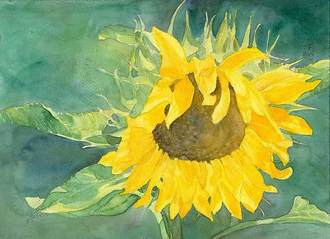 Bright Sunflower by K Joann Russell