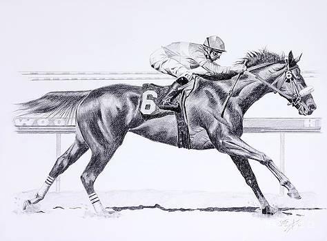 Bring On The Race Zenyatta by Joette Snyder