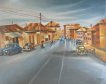 Broad Street Lagos 1951 by Olaoluwa Smith