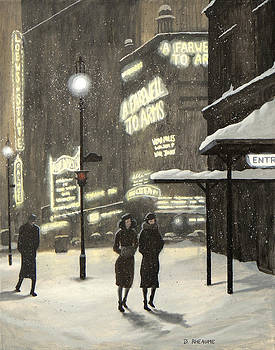 Broadway Night by Dave Rheaume