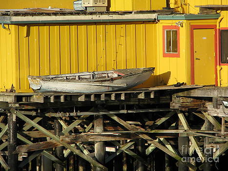 Broken Boat Fisherman's Wharf by James B Toy