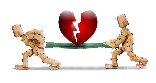 Simon Bratt Photography LRPS - Broken heart carried on a stretcher by box men