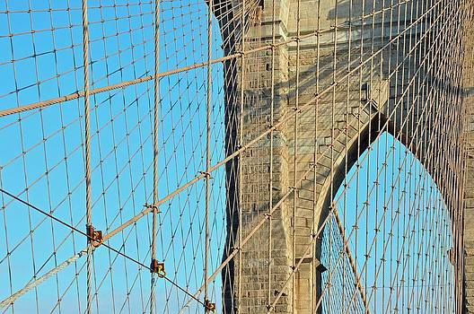 Brooklyn Bridge cables by Paul Van Baardwijk