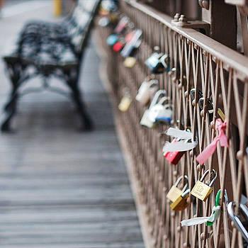 Brooklyn Bridge Love Locks by Louise Morgan